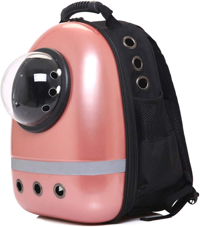 CSDAPet Bag Pet pet bag space capsule portable backpack pet,pink