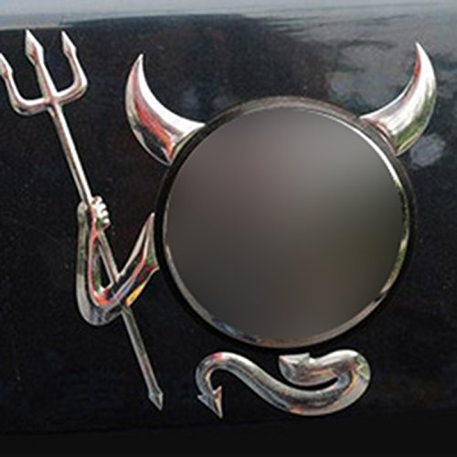 Huayang Stilvolle Silber 3D Teufel Dämon Auto hinten Emblem Aufkleber Aufkleber