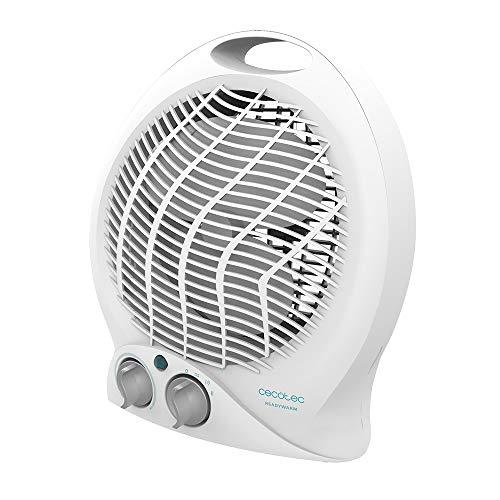 Cecotec Calefactor Eléctrico de Baño Bajo Consumo Ready Warm 9790 Force 2000 W, Termostato Regulable, 2 niveles, 3 Modos funcionamiento, Silencioso, Sistema de Seguridad, 15 m2