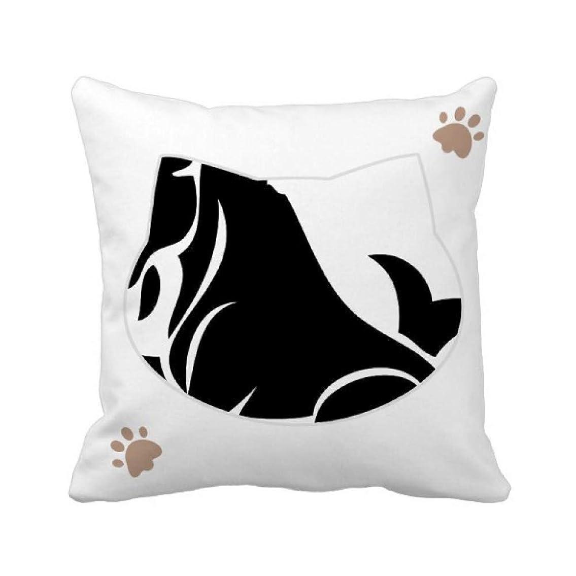 納屋染料緑星座は山羊座十二宮のサイン 枕カバーを放り投げる猫広場 50cm x 50cm