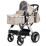 HONEY JOY Baby Stroller, 2-in-1 Reversible Toddler Stroller Seat and Bassinet Combo, Foldable Lightweight Infant Pram...
