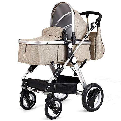 Lowest Price! HONEY JOY Baby Stroller, 2-in-1 Reversible Toddler Stroller Seat and Bassinet Combo, F...