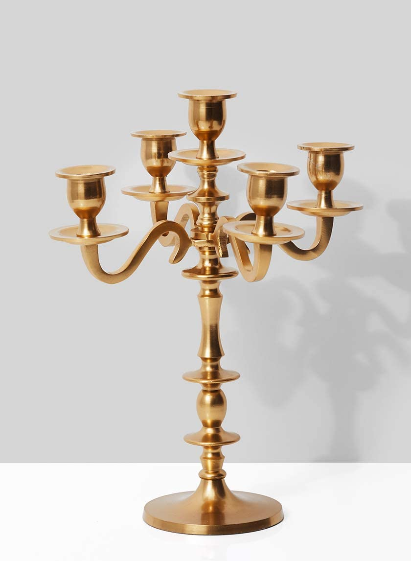 Gold Candelabra H 14in Sales of SALE items from new San Jose Mall works