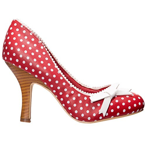 Dancing Days High Heel Pumps - String of Pearl Rot 40