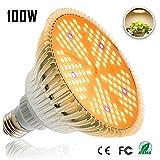 Derlights 100W LED Pflanzenlampe E27 Grow Light