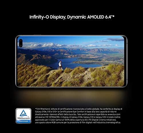 Samsung Galaxy S10+ Smartphone (16.3cm (6.4 Zoll) 512 GB interner Speicher, 8 GB RAM, Ceramic White) - [Standard] Deutsche Version
