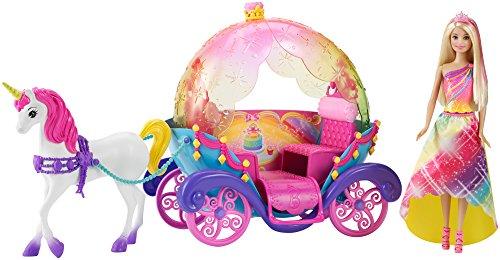 Barbie Mattel DPY38 Regenbogen Prinzessin, Einhorn und Kutsche