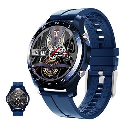 HQPCAHL Pulsera Actividad Reloj Inteligente Impermeable IP67 Smartwatch Pantalla Táctil Completa con Pulsómetro Cronómetro Pulsera Deporte para Hombres Mujeres Niños con iOS Y Android,Azul