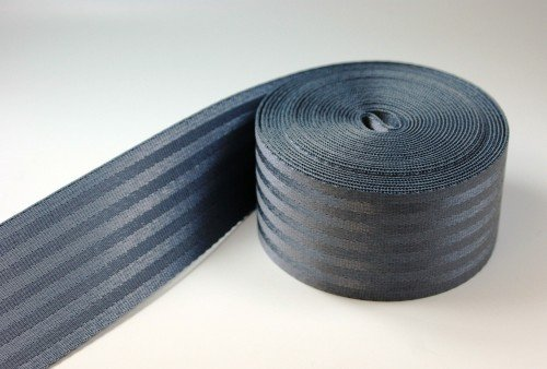 50m Sicherheitsgurtband aus Polyamid - 38mm breit - bis 1,5t belastbar - Farbe: dunkelgrau