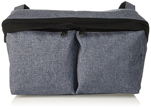 Bugaboo Stroller Organizer, Blue Mélange - Compatible with Any Stroller - Attaches to The Handlebar or Behind The Seat, Converts into a Diaper Bag Tote