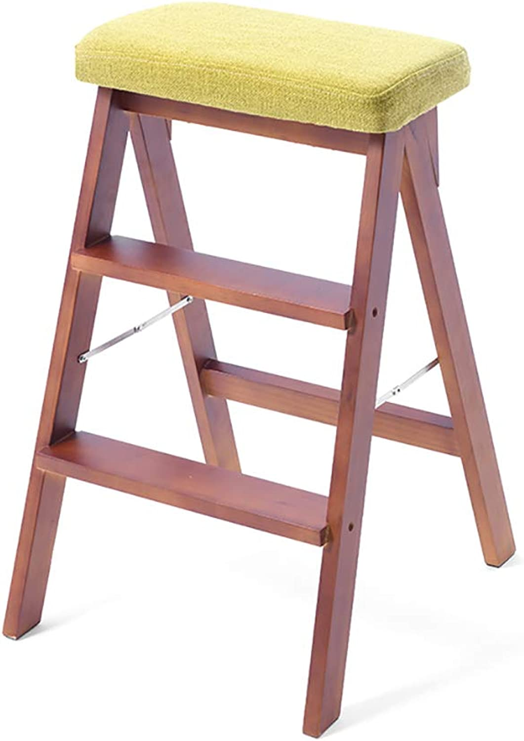 Solid Wood Three Stair Stool Multi-Storey Staircase Home Stool Indoor Ladder 3rd Ladder,7 colors (color   E)
