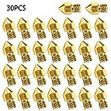 Cabezales de impresión de extrusora de boquilla 3D M6 de 16 piezas 7 con diferentes tamaños, adecuados para impresoras 3D 0.2 mm, 0.3 mm, 0.4 mm, 0.5 mm, 0.6 mm, 0.8 mm, 1, Boquilla de máquina de 0 mm + 5 agujas de limpieza de boquilla de acero inoxi...