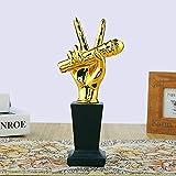 con incisione personalizzata fino a 30 lettere A1241 Mini microfono Star-Trofeo premio 3,25 8,25 cm