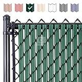 Fenpro W Slat Chain-Link Fence Slats with Bottom Lock Channel (6-ft, Green)