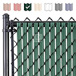 commercial Fenpro W chain link fence rail with lower locking channel (6ft green) chain link fence slats