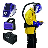 Parweld XR940 - Casco da saldatura oscurante con alimentazione ad aria, ricaricabile, respiratore purificante