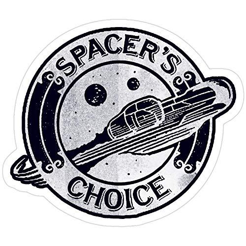 Cool Sticker For Cars, Trucks, Water Bottle, Fridge, Laptops Spacer'S Choice Distressed White Alternate Logo | The Outer Worlds Logo Stickers (3 Pcs/Pack)