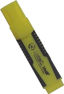 قلم سبورة سن مقشوط من يونيك مجموعة من 12 مع قلم ماركر اصفر ازرق 90
