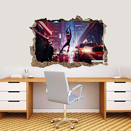Wall Sticker Super Movie Spider to Spider Decal 3D Smashing Wall Sticker Art Mural