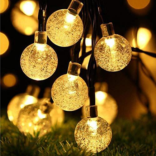 Luz solar 50 LEDS Bola de cristal 10M Lámpara solar Energía LED Cadena Luces de hadas Guirnaldas solares Jardín Decoración navideña para exteriores