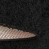 Taracarpet Hochflor Langflor Shaggy Teppich geeignet für Wohnzimmer Kinderzimmer und Schlafzimmer flauschig und pflegeleicht schwarz 080×150 cm - 4