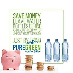 Maytag UKF8001 Filter Refrigerator Water Filter Compatible Cartridges | 3 Pack by PureGreen | Maytag, Amana, Kenmore, Jenn-Air, Whirlpool, Kitchenaid | UKF8001, 46-9006, 46-9992