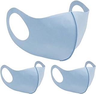 [Amazon限定ブランド] AIDON軽量 通気性 マスク 吸汗速乾 夏秋用マスク 繰り返し使える 日焼け予防 男女兼用 花粉症マスク ほこり 耳痛くない 3枚入り ブルー