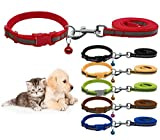 THE DDS STORE Nylon Reflective Safety Pets Collar with Bells (Red)