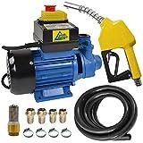 Bomba Diesel - Bomba DE Combustible - Bomba TRASVASE GASOLEO Set Profi 600' Bomba DE Barril 230V, con Manguera (Bomba Diesel Profi Con Paquete 2)