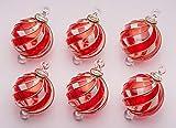 Imadera Feinste Glaskugeln 6 Stück in edlem rot aus Glas 8cm