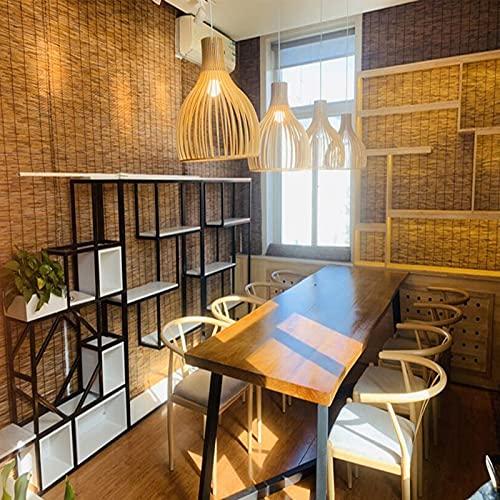 kufu01 Persianas Enrollables de Bambú Decorativas Vintage,Oficina Restaurante Cocina Ingeniería Persianas de Caña,Cortina de Puerta de Partición Cortina de Paja,Personalizable (130x350cm/51x138in)