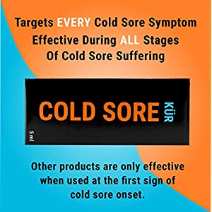 Cold Sore KUR + Heals Cold Sore in Half The time + Stops Spread + immediate Pain Relief