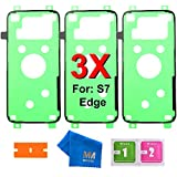 MMOBIEL 3X Adhésif/Sticker protège Batterie prédécoupé Compatible avec Samsung Galaxy S7 Edge...