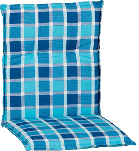 Beo Gartenmöbel Auflage für Niedriglehner karo türkis blau M030