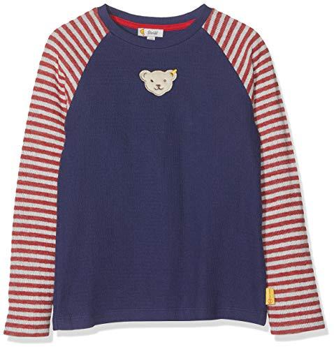 Steiff Baby - Jungen Langarmshirt , Blau (PATRIOT BLUE 6033) , 80 (Herstellergröße:80)