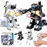 JJIIEE Intelligent Robot Remote Control Fighting,Children's Remote Control Robot 2.4G Multiple Fighting Toys Parent-Child Interactive Toys,Boxing Fighter for Kids Boys,Girls,A+b