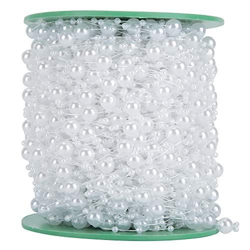Perline di perle-Bella linea di pesci perline finte perline Catena di perline Decorazione di bouquet da sposa con perline