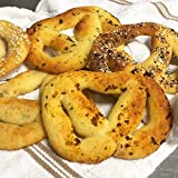 Extra soft and sturdy keto soft pretzels, absolutely delicious for your sandwich. Not eggy tasting, you can toast it and enjoy it with cream cheese, scrambled egg or just as it is. Ingredients: Almond flour, mozzarella cheese, cream cheese, baking po...