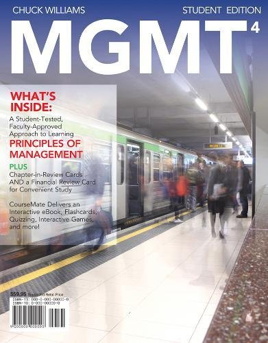 MGMT 4 (with Management CourseMate with eBook Printed...
