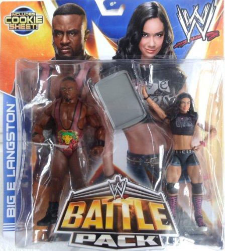 WWE MATTEL Battle Packs 28 BIG E LANGSTON & AJ LEE Wrestling Figures