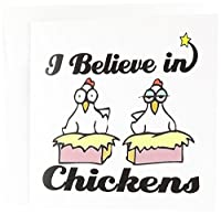 Dooni Designs I Believe In – I Believe In Chickens – グリーティングカード Individual Greeting Card