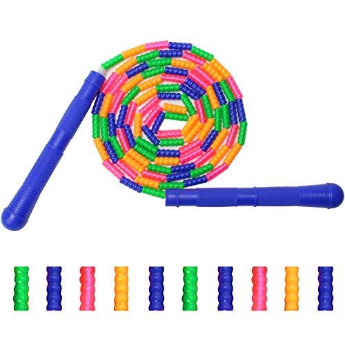 COITEK weiches Perlen-Springseil, Springseil für Kinder und Erwachsene, aus Kunststoff, segmentiertes Springseil lang genug für 4–5 Jumper-Training, hält Fit, Gewichtsverlust und Sprung-Training
