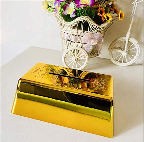 WEIGUANG Brics Papierhandtuchpumpen Kreative Simulation Goldbarren Papierhandtuchpumpen Tissue Box Neujahrsgeschenk Haushaltsgegenstände
