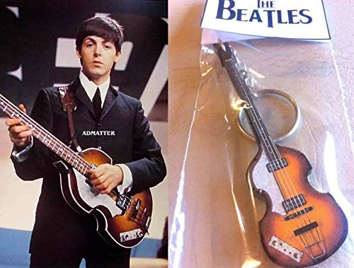 Keychain Gitarre Bass Hofner 500/1 Lefty Paul Mccartney The Beatles
