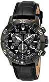 Citizen Men's BL5259-08E Gunmetal-Tone Stainless Steel Watch with Black Leather Band