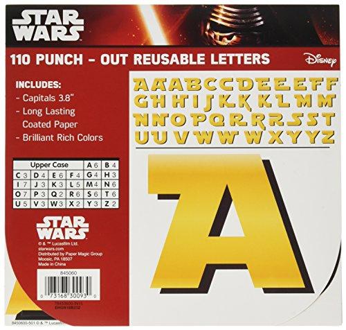 Eureka Star Wars Classroom Decoration Bulletin Board Deco Letters, 110pc