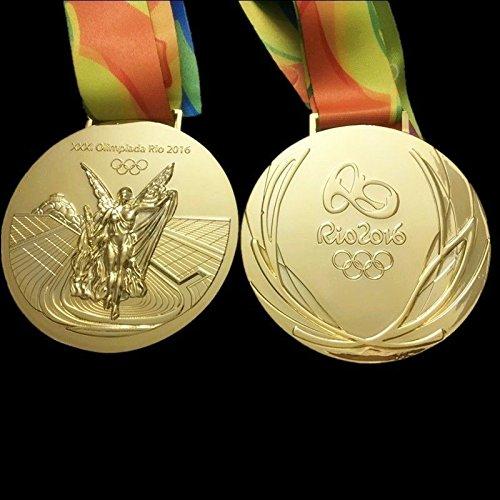 NoNo 2016 Rio Olympische Souvenir-Medaillen: Goldmedaille und Bänder