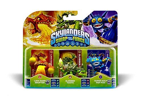Skylanders Swap Force - Triple Pack A (Slobber Tooth, Eruptor, Pop Fizz)