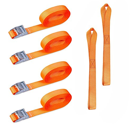 Abimars spanbanden 4 pieces 2.5cm x 5 m Orange