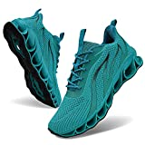 MOSHA BELLE Running Shoes Men Breathable Lake Blue Sport Air Fitness Athletic Gym Jogging Sneakers 10.5